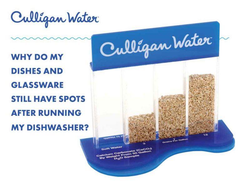 Culligan water hardness block testing water in Reno, Nevada