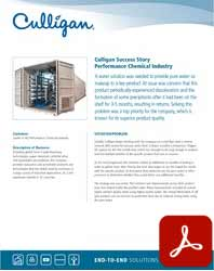 Nevada Culligan industrial water solutions for Chemical Processing Success Story