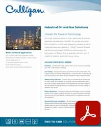 Nevada Culligan industrial water solutions for Oil and Gas brochure