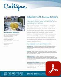 Culligan Industrial food and beverage water filtration solutions pdf icon Culligan water filtration Reno, Nevada