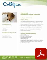 Nevada Culligan Commercial Hotel water treatment solutions and hospitality brochure